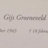 Gijs Groeneveld overleden